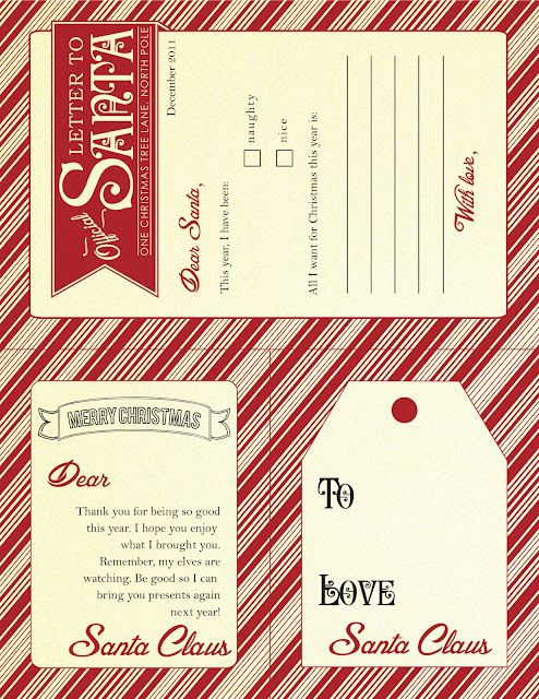 just in time for santas arrival from santa free printable