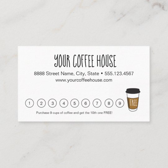 Blue Editable Coffee Stamp Loyalty Card Zazzle Com Coffee Stamps Loyalty Card Coffee Loyalty Card