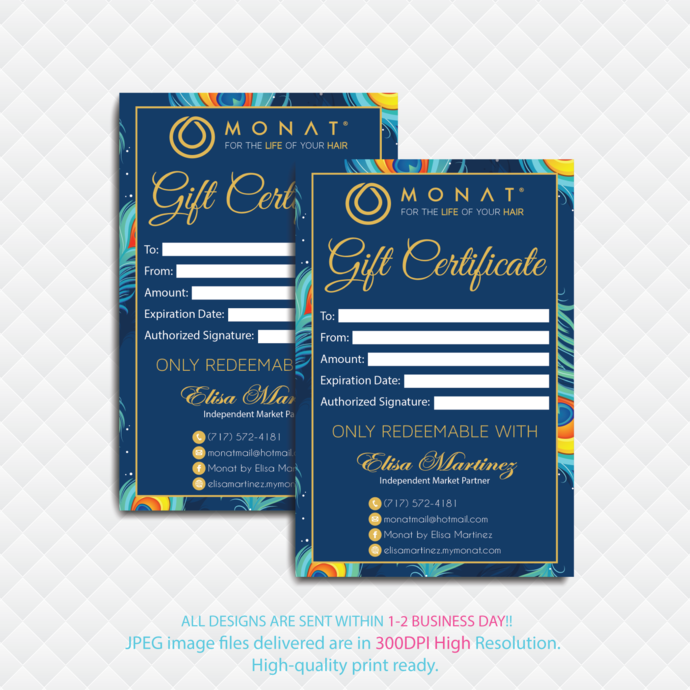 Personalized Gift Certificate Cards Monat Gift Cards Monat Global