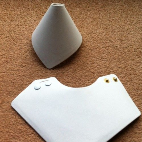 Faux White Leather Bangle Bracelet Display Cone X 3 Ebay