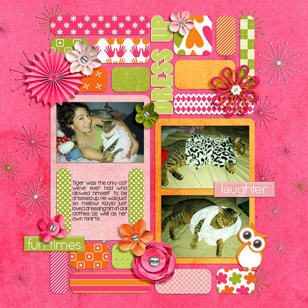 #papercraft #scrapbook #layout  Dress Up | Seatrout Scraps: Sleepover; Wendy Tunison Designs: Me and My Shadow