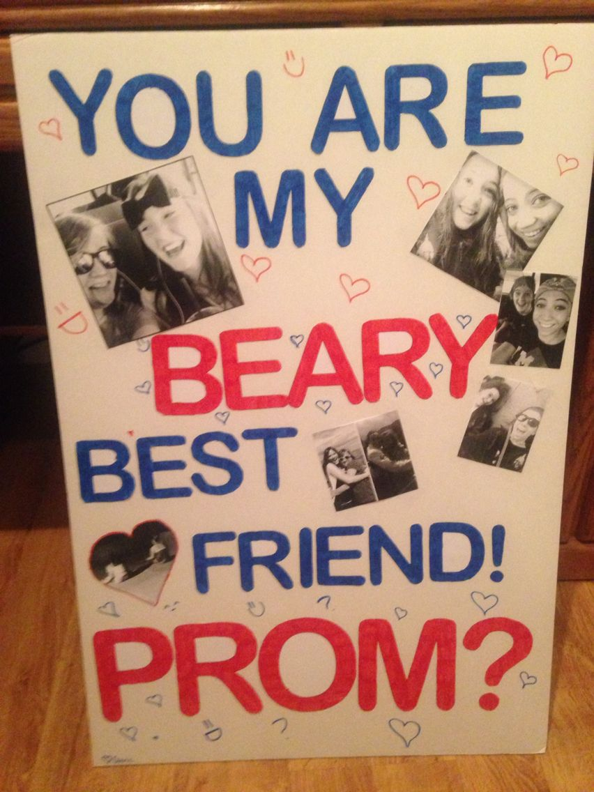 Best Ways To Ask A Friend To Prom #promposal #bestie