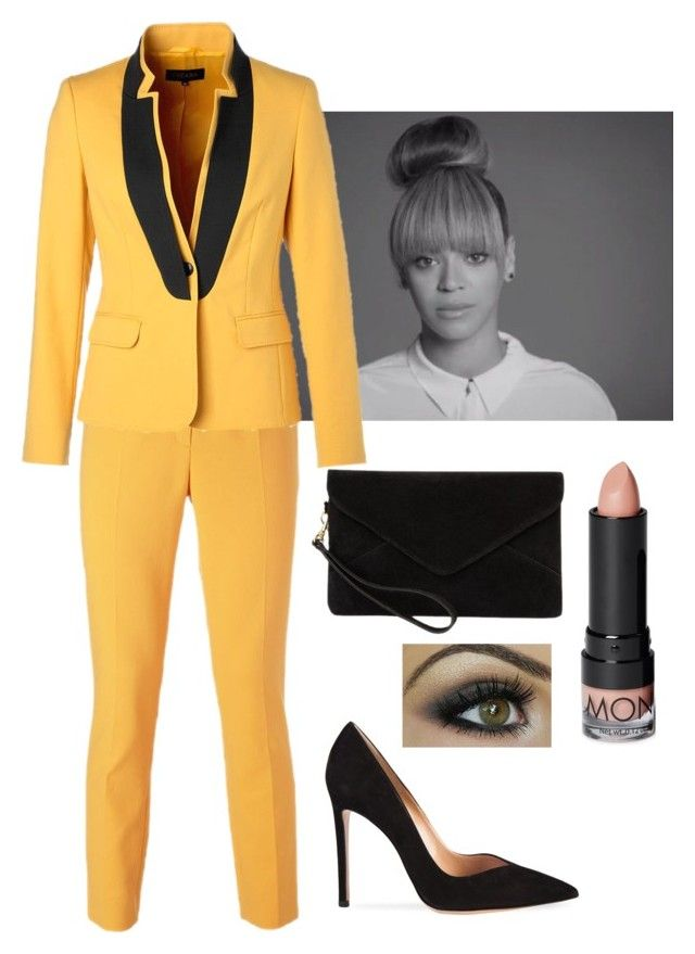 yellow by teenfashionicon2 on Polyvore featuring polyvore, fashion, style, ESCADA, Gianvito Rossi, MANGO and Monki