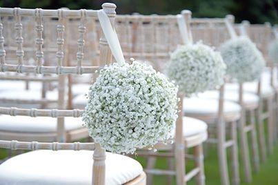 Sedie Matrimonio ~ Decorazione di gypsofila per sedie ricevimento matrimonio