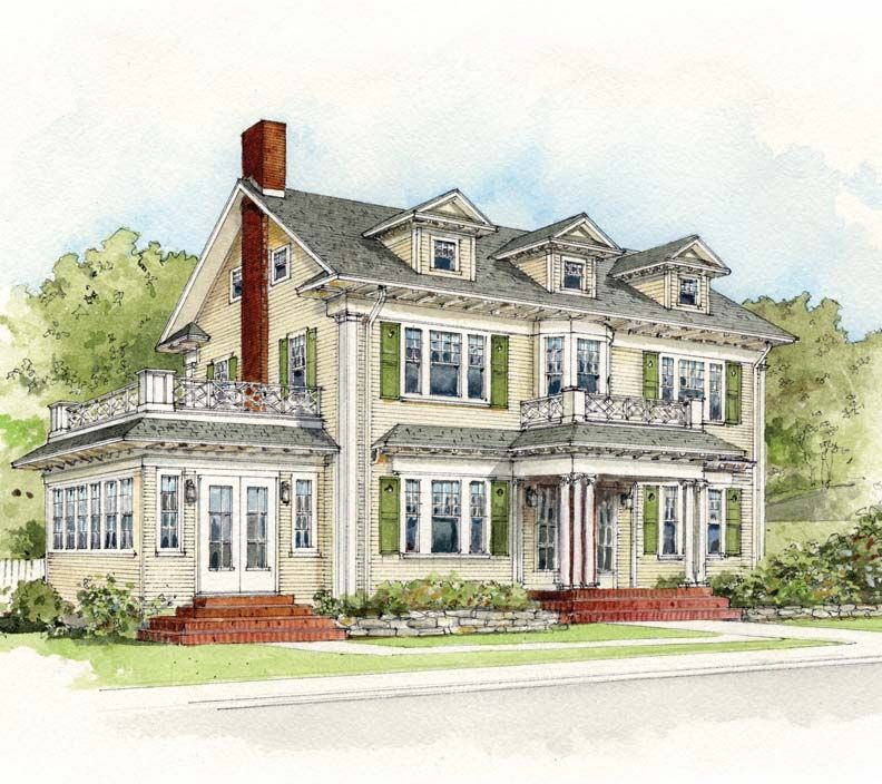 Early 20th century suburban house styles suburban house for Types of colonial houses