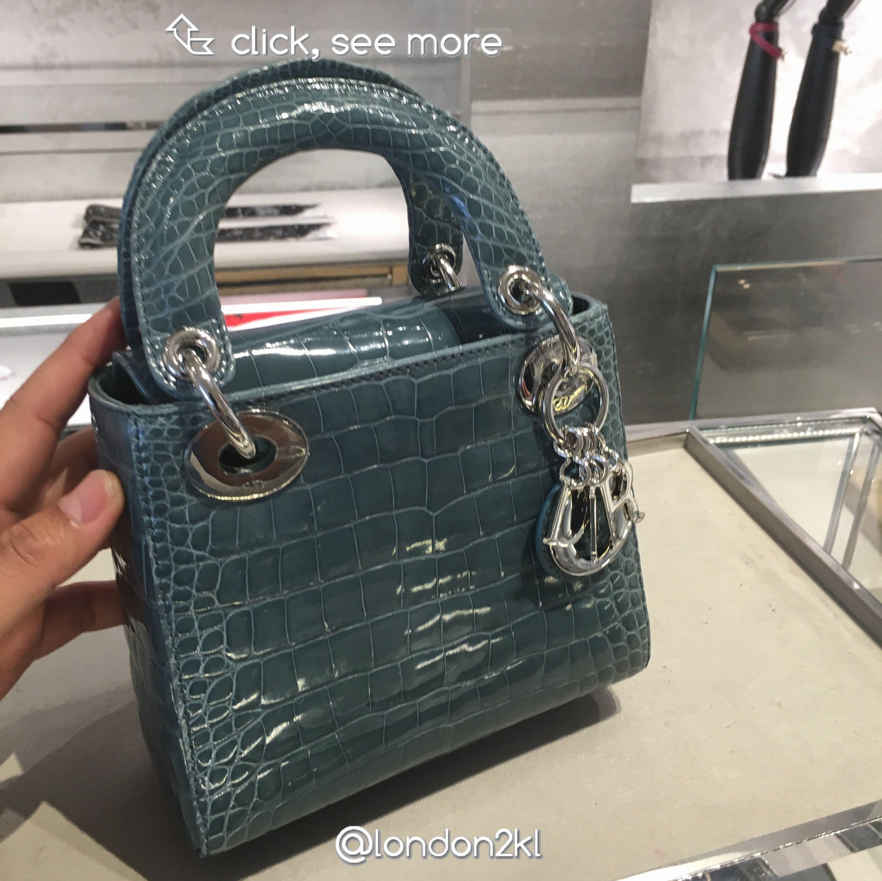 ad8f6fb11cb4a Mini Lady Dior Bag in Beautiful Croc