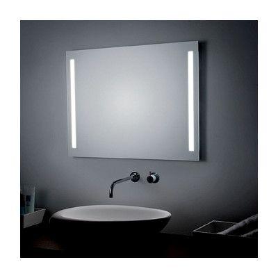 Led Lighted Wall Mirror Lighted Wall Mirror Mirror Bathroom Wall Sconces