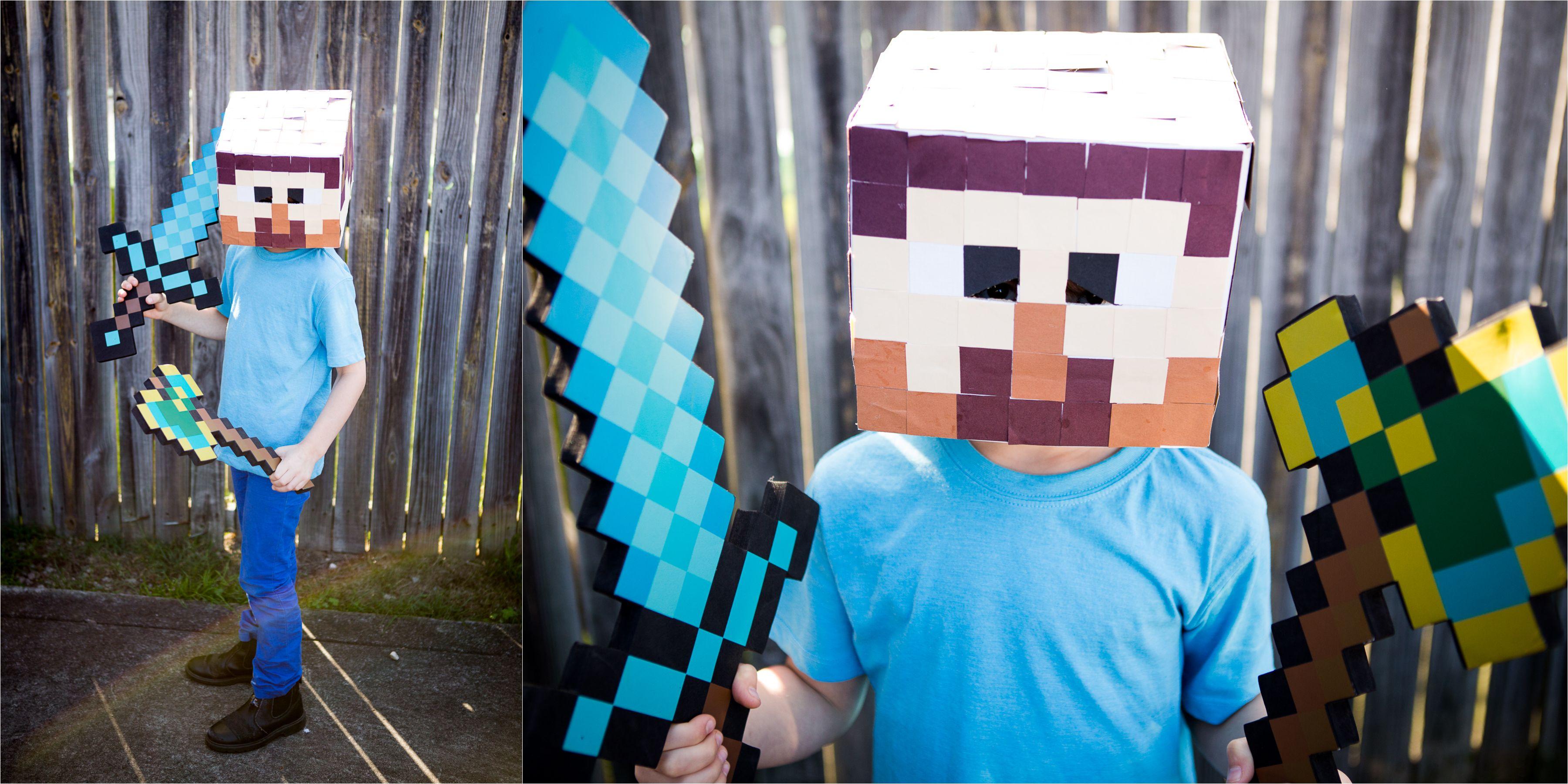 Boys Costume for Book Week , Minecraft Steve!