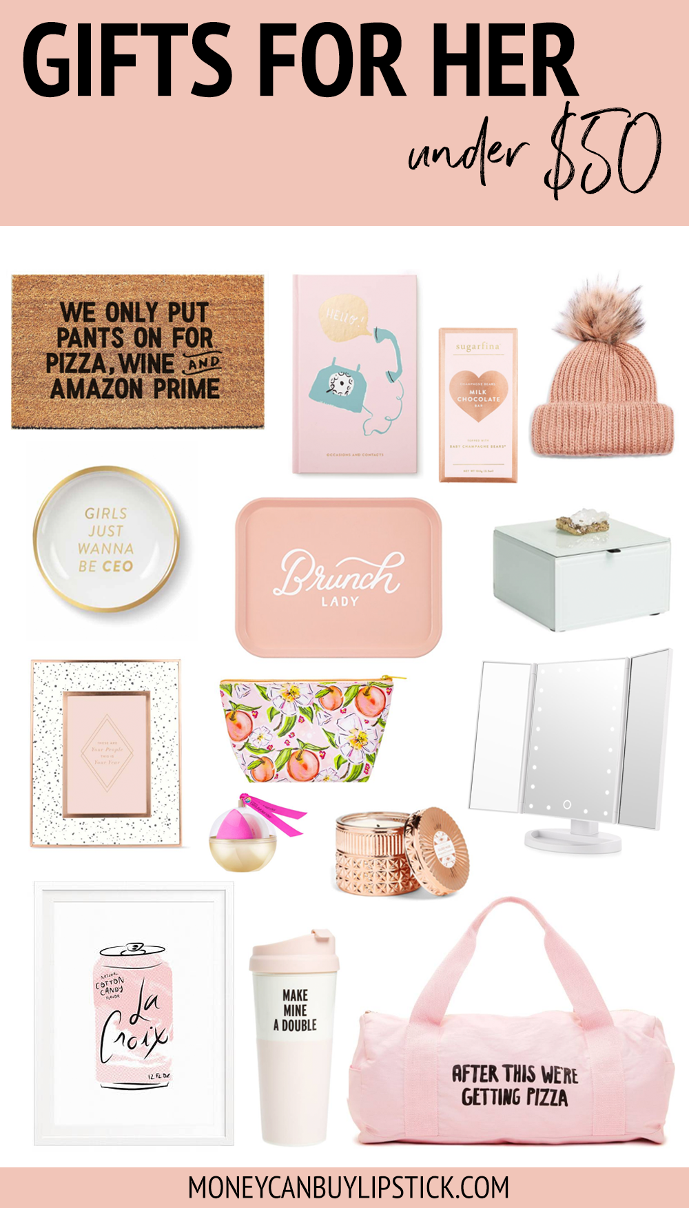 Gifts For Her: Under $50 | Money Can Buy Lipstick | Pinterest ...