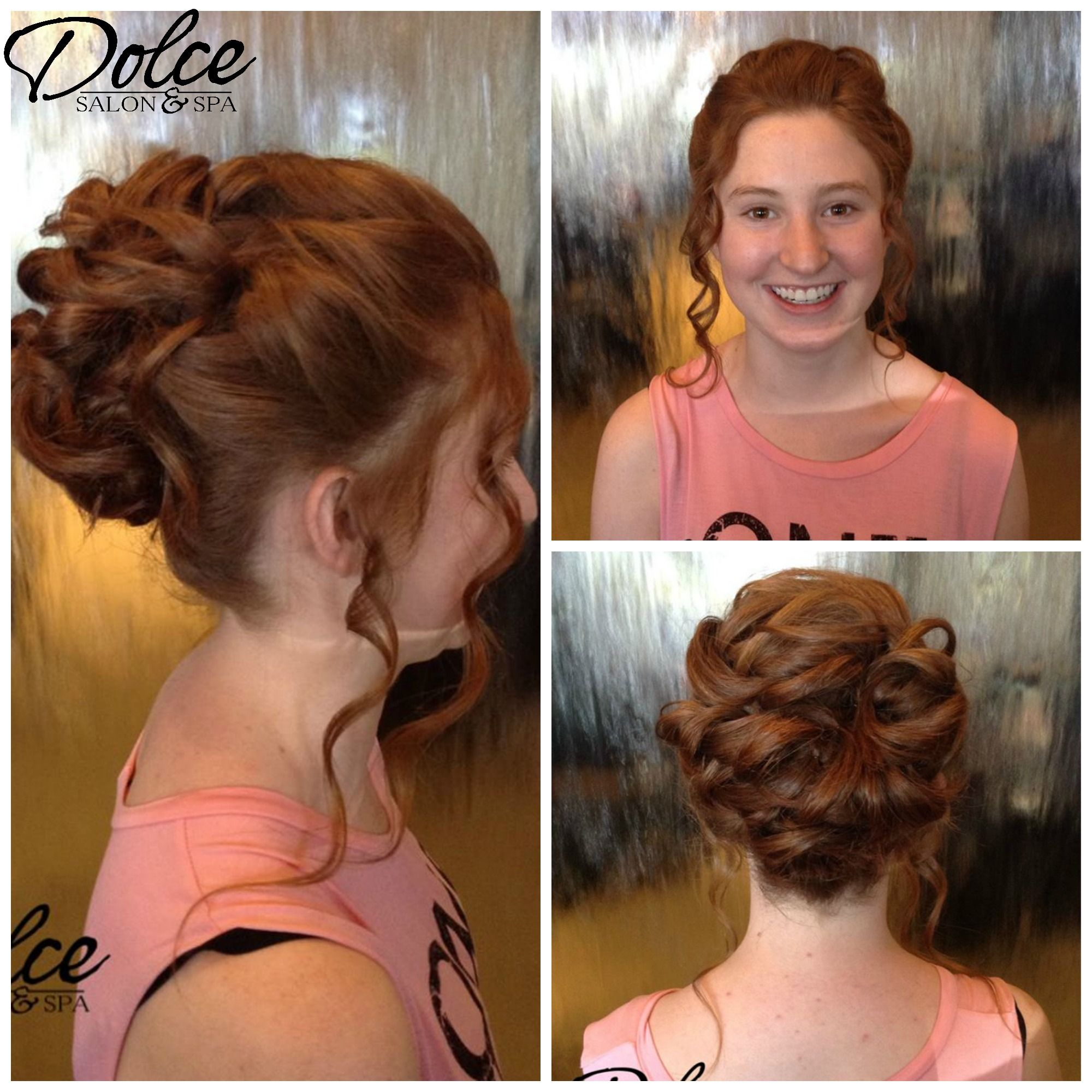 Curls for days from Betty at Chandler! Another beautiful prom style! Have you booked yours yet!?