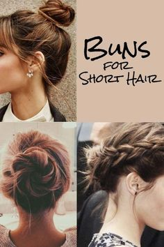 How to Make a Bun with Short Hair: 11 Super Easy Short Hairstyles