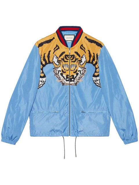c5e79be8bbd GUCCI Nylon Bomber With Tiger Print.  gucci  cloth  print