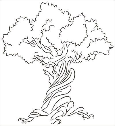 Image Result For Michaels Wall Stencil Tree Drawing Simple Free
