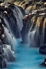 Waterfall Blues (Mike Berenson - Colorado Captures) Tags blue light sunset snow nature
