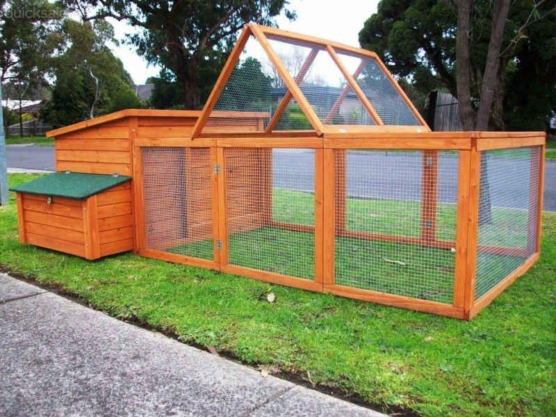 CHICKEN COOP + RUN LARGE CHOOK SHED HEN HOUSE LOOK! by
