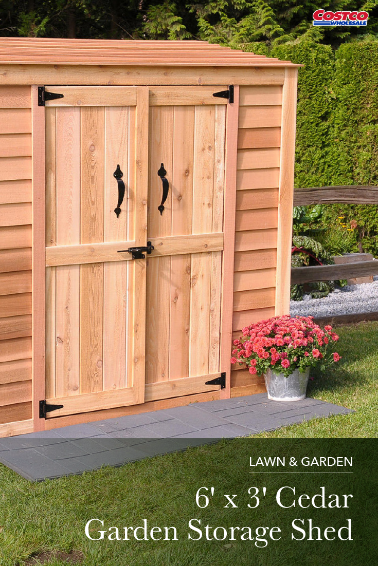 Western Red Cedar Is A Truly Sustainable Building Material Independently Certified And Harvested Only From Le Garden Storage Shed Cedar Garden Garden Storage