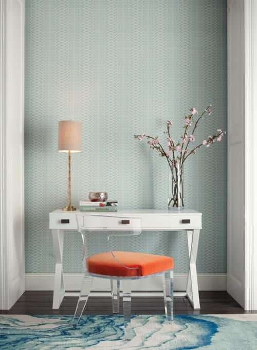 Illusion Wallpaper in Blue from the Candice Olson Journey ...