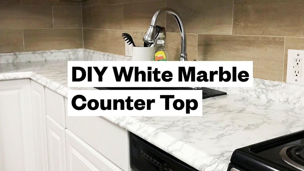 Transform Your Kitchen For 20 Diy White Marble Countertop Youtube Marble Countertops White Marble Diy White Marble Countertops