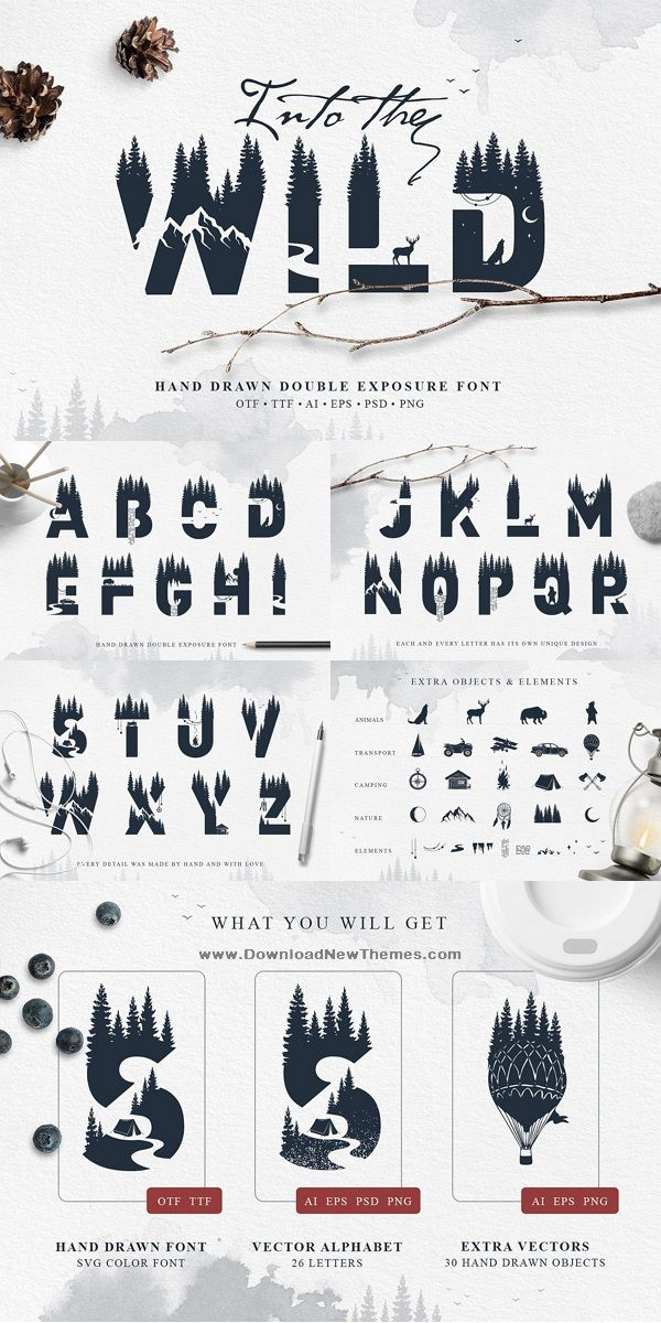 Into The Wild - Double Exposure Font | Best Creative Fonts