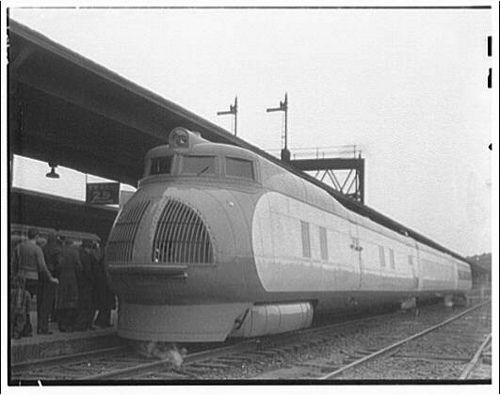 Streamline train from 1930's | trains | Train, Train truck