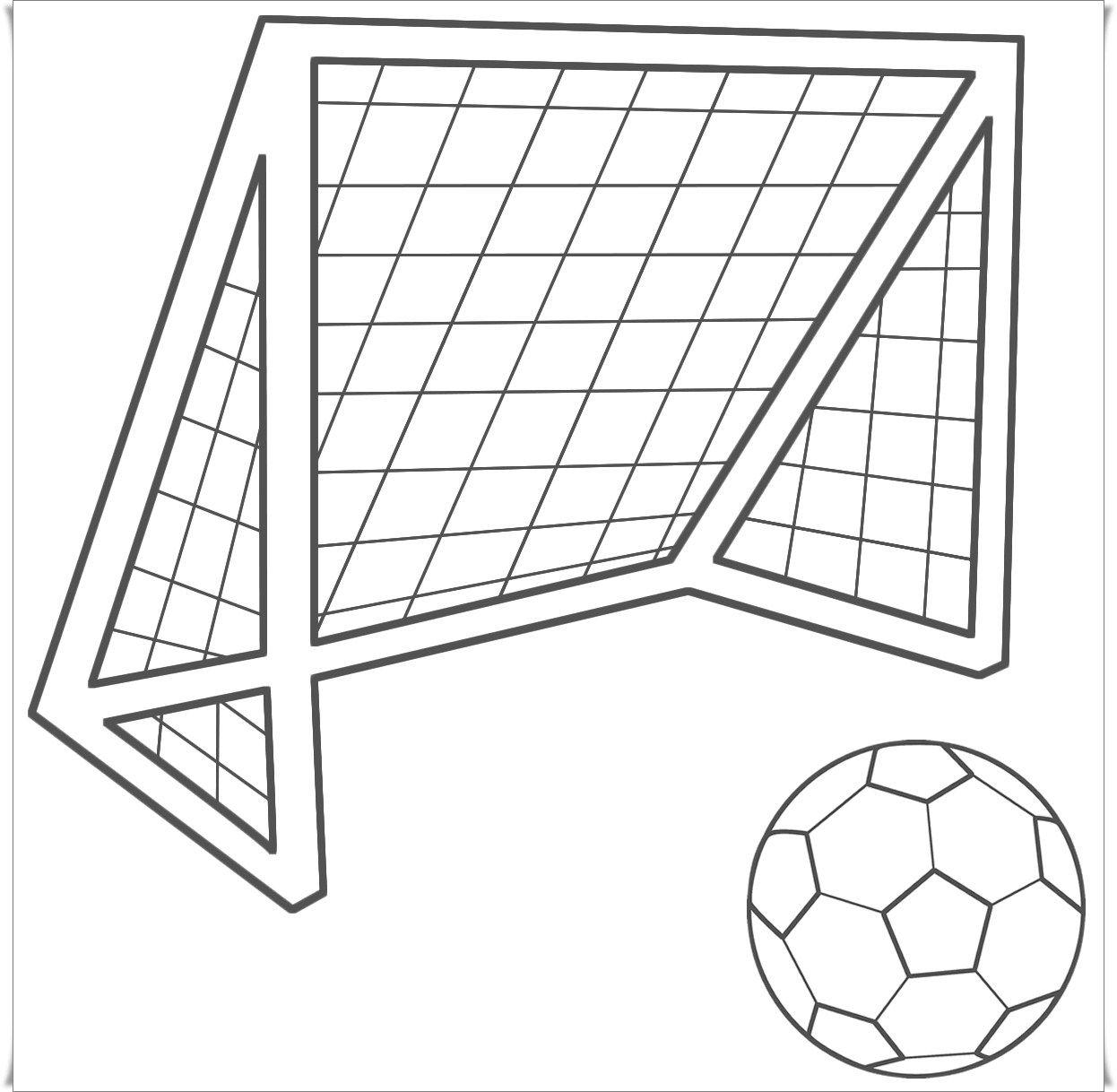 Fussball Malvorlagen Ausdrucken Bola Kaki Warna Gambar