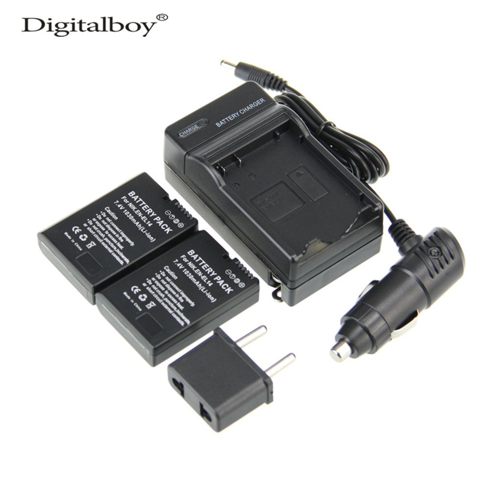 5pcs Set En El14 Enel14 Camera Battery Charger Car Charager D3100 Power Connector Cover From Nikon