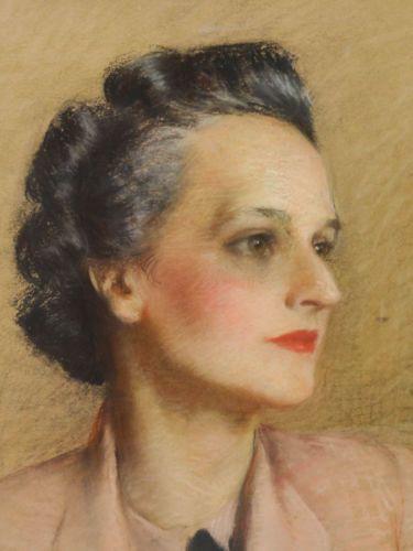 Superb-Australia-Early-20c-Pastel-Ptg-Portrait-of-Woman-Signed-J-Cumbrae-Stewart