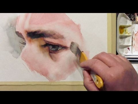 Watercolor Painting Portrait Of Beautiful Girl Youtube