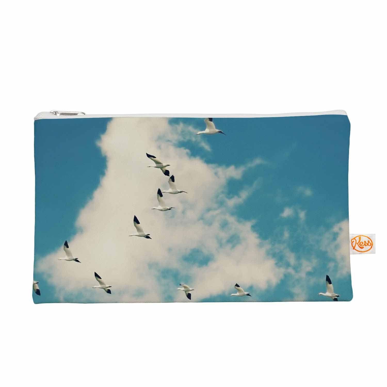 "Sylvia Cook ""Snow Geese"" Blue White Everything Bag"
