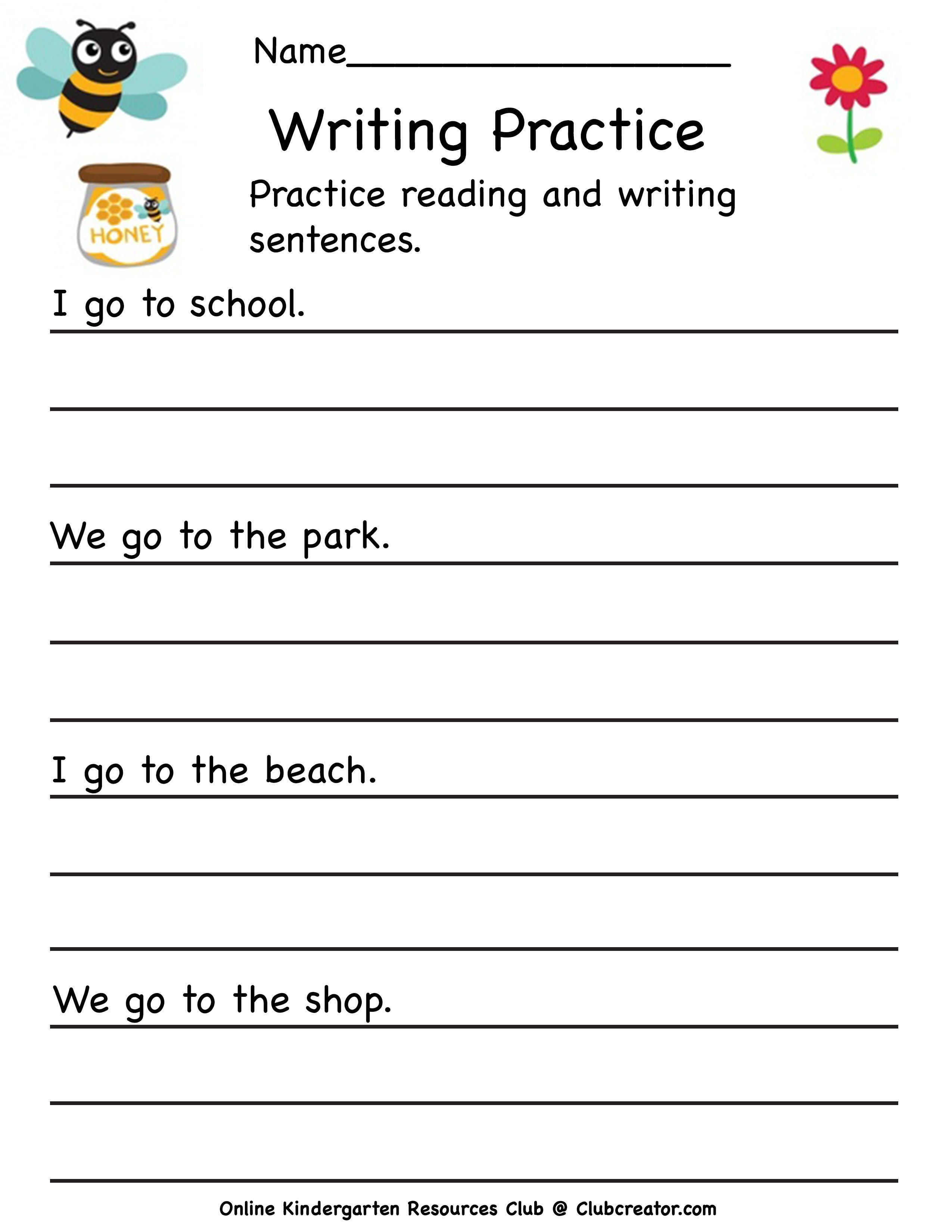 Early Writing Practice Worksheet In