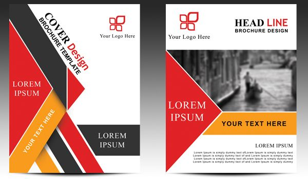 Download Brochure Design Template Vol 5 Front and Back Open Layered - template