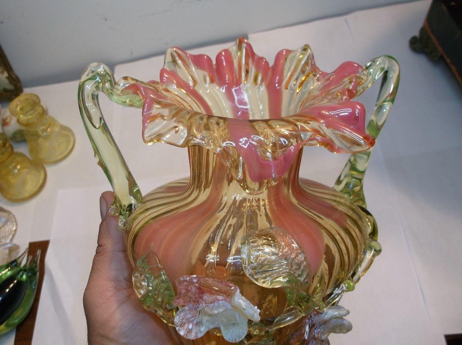 Strawberry uranium glass vase vaseline glass pinterest glass strawberry uranium glass vase reviewsmspy