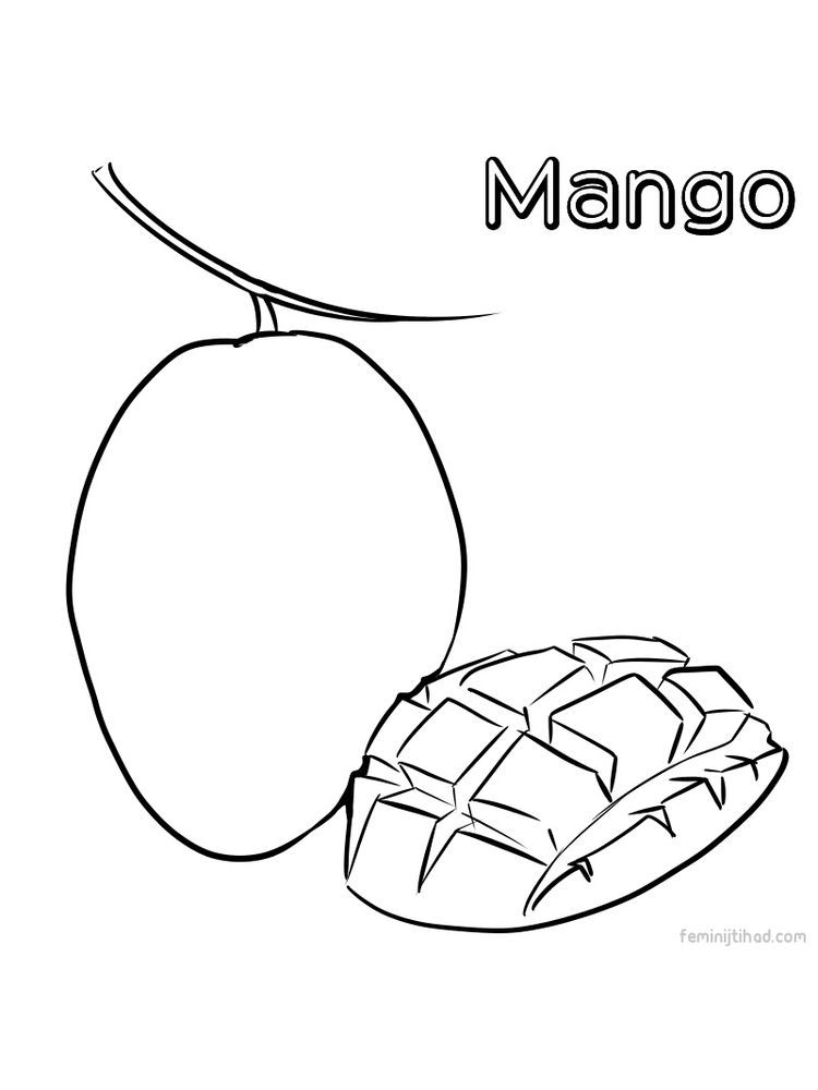 Mango Image Coloring Page Print Mango Is A Type Of Fruit That Is