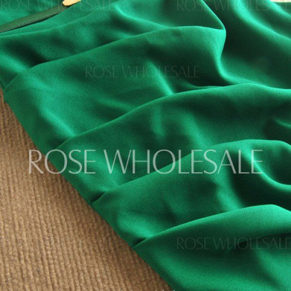 805b4e888d9 Wholesale Sleeveless Cowl Neck Solid Color Belt Design Slimming Packet  Buttock Dress For Women (GREEN