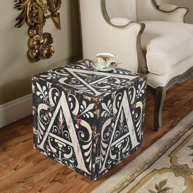Grote Side Table.Block Letter A Side Table A