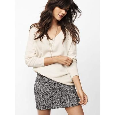 Victoria's Secret Tweed Miniskirt love they play on texture wear with boots and tight for a more casual look or sexy vs pumps to dress it up.