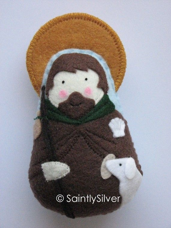 Saint Rocco Felt Saint Softie by SaintlySilver on Etsy