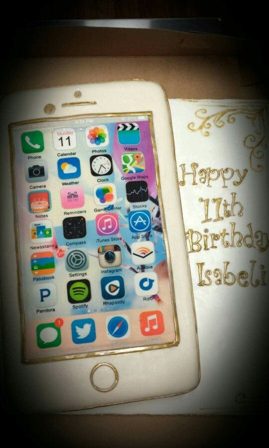 Cute Cell Phone Cake Iphone Cake Birthday Cakes For Teens Cake