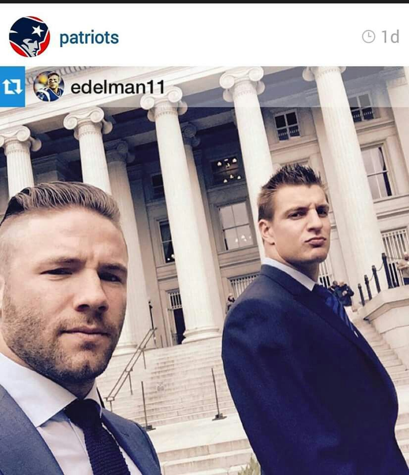 Gronk And Edelman All Cleaned Up For The White House Homens Lindos Look Homens
