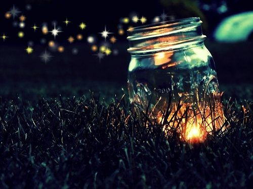 They were just fireflies to the untrained eye, but I could always tell <3