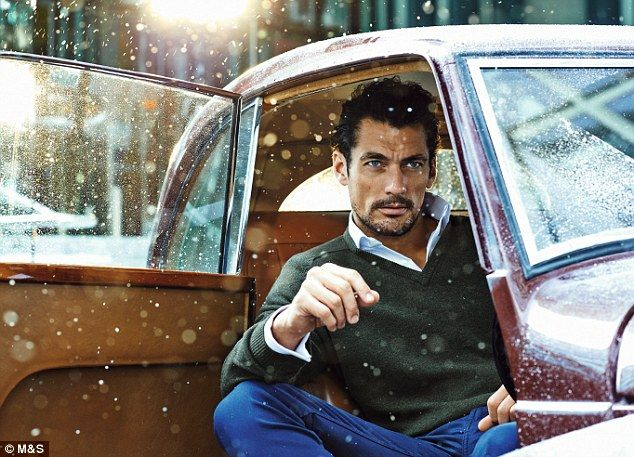 Christmas came early: David Gandy has been unveiled as M&S' latest posterboy and he's modelling the high street giant's range of winter menswear
