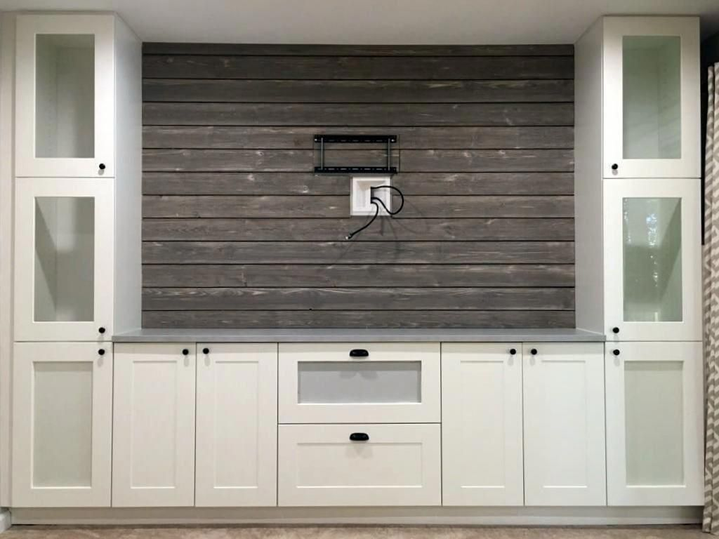 Ikea Kitchen Remodel Hack Horizontal Bi Fold Upper Cabinets With Open Shelving In My Loft Ikea Kitchen Remodel Ikea Kitchen Kitchen Remodel