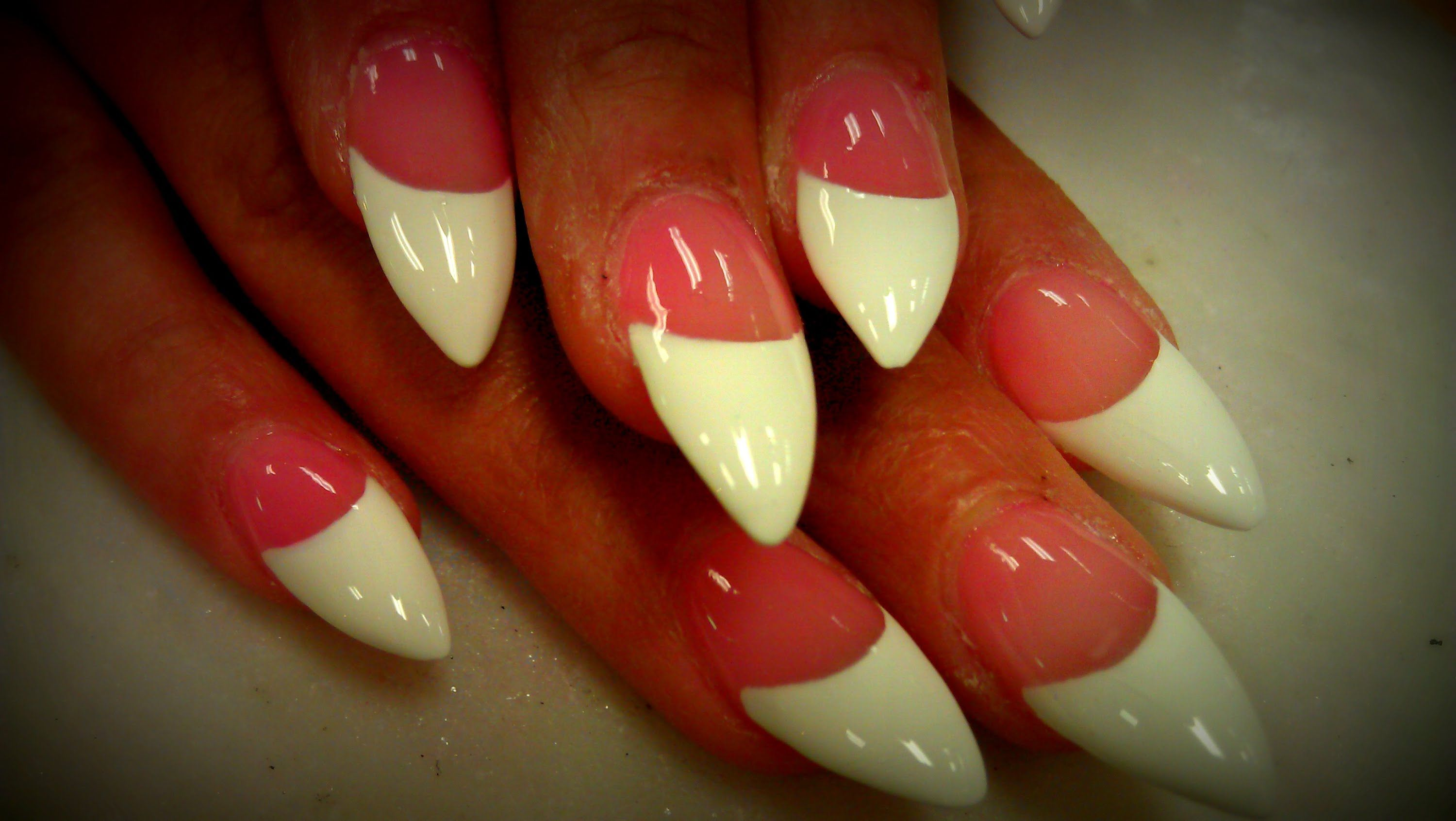FRENCH MANICURE DESIGN ON STILETTO NAILS | NAILS | Pinterest ...