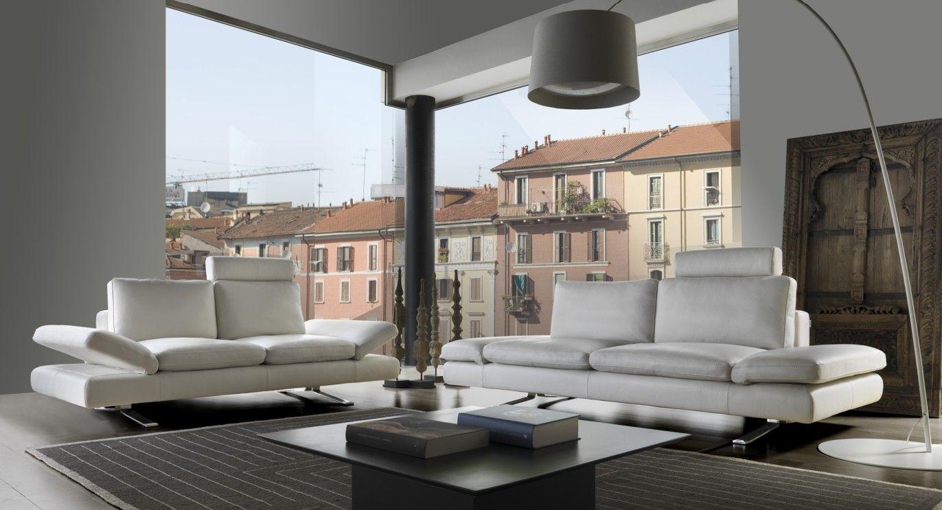 Modern leather piece sofa set in full italian leather sofa set