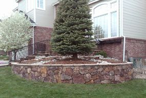 Brick Tree Rings And Flower Planters Are Wonderful Additions To The Front Back