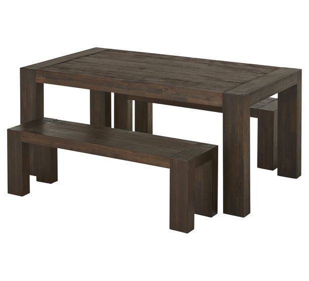Terrific Kingston 3 Piece Bench Dining Set For Outdoor Setting With 2 Gmtry Best Dining Table And Chair Ideas Images Gmtryco