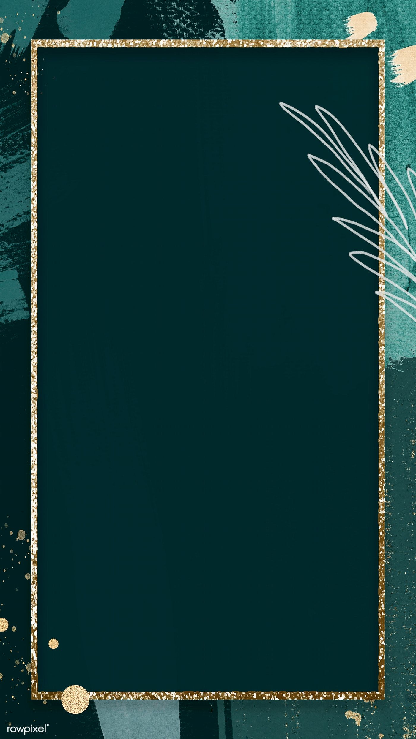 Download premium illustration of Frame on abstract Memphis