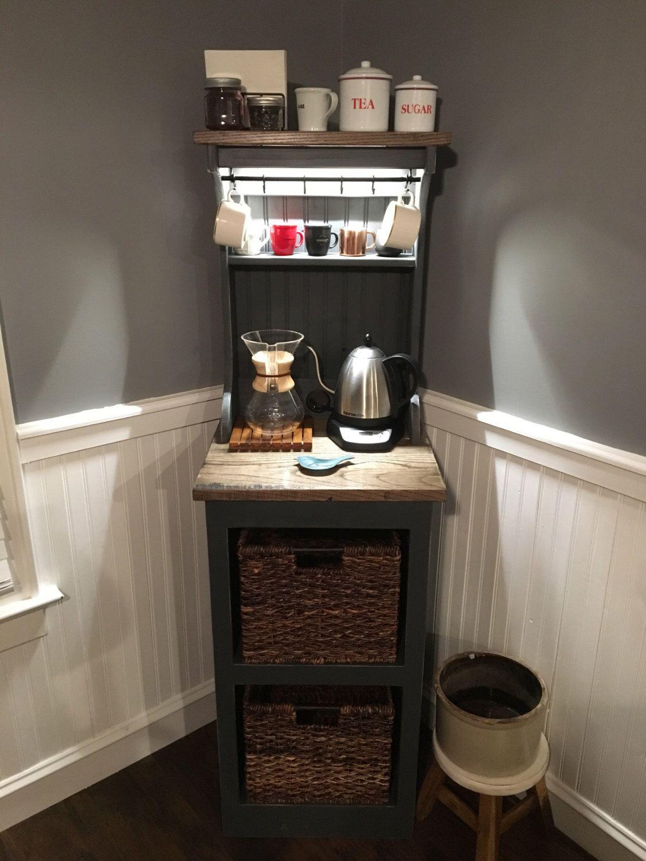 Mini coffee station by Worksnwood on Etsy https