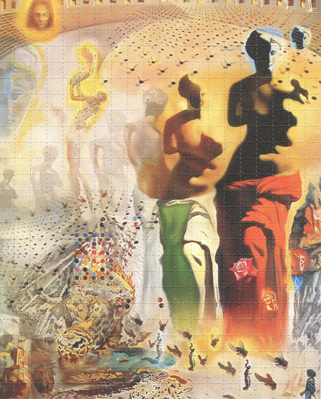 Salvador dali psychedelic acid lsd tabs blotter art print perforated sheet