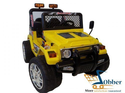 Powered Wheels Car For Kids Jeep Wrangler Yellow 12v W Remote